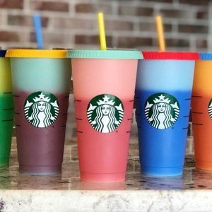 STARBUCKS Color Changing Cold Cups-Unopened